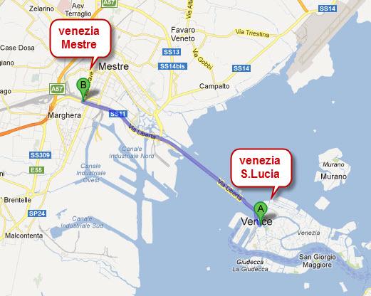 map venezia -s-lucia