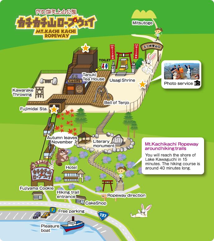 Japan Trip - Ropeway map