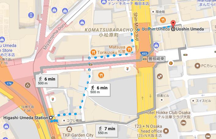 Japan Trip - Map to sushi