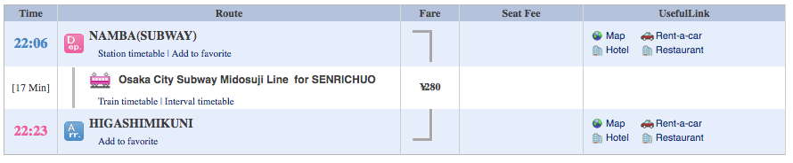 Japan Trip - namba-HIGASHIMIKUNI