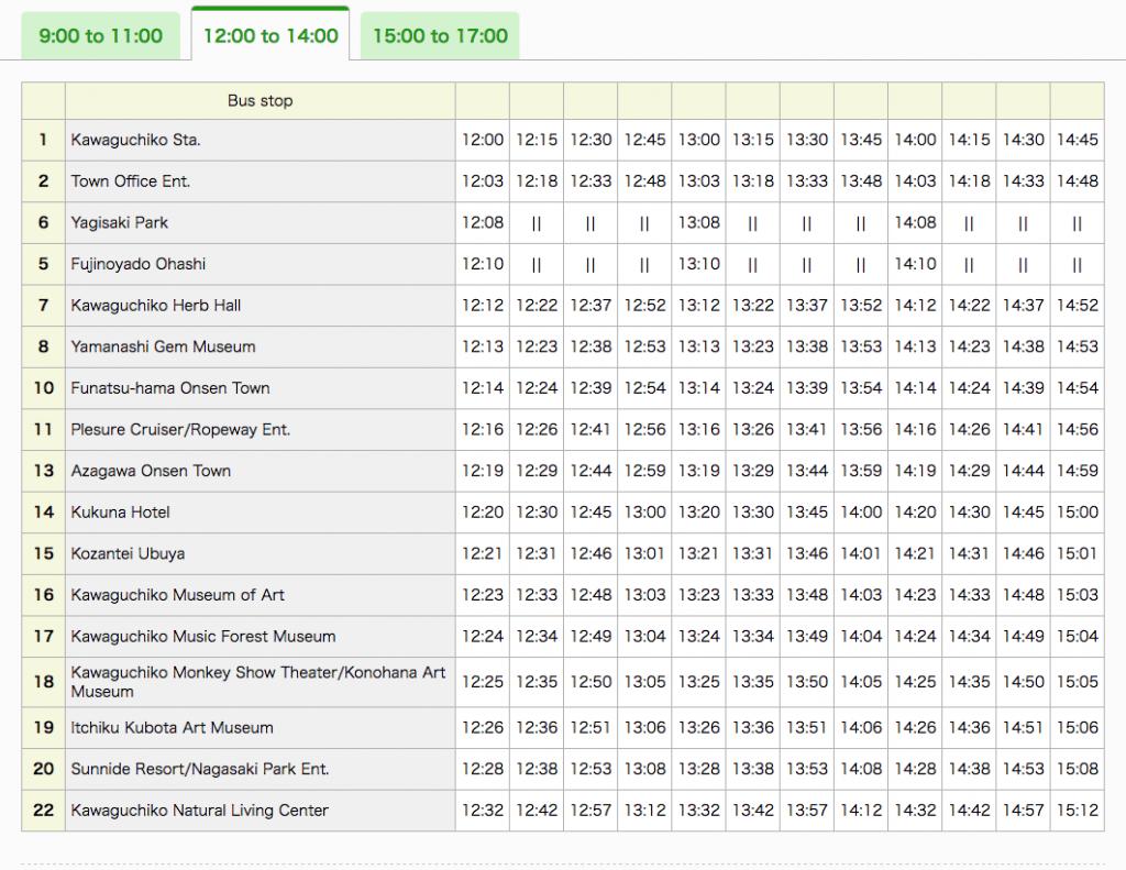 Japan Trip -- timetable-retrobus2